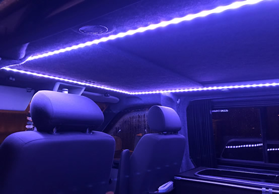 A camper using our LED strip as a great interior night light