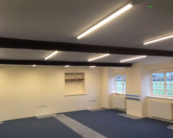 LED Lighting conversion in barn Bristol